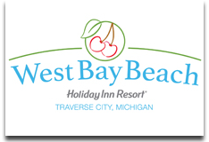 west bay beach traverse city logo